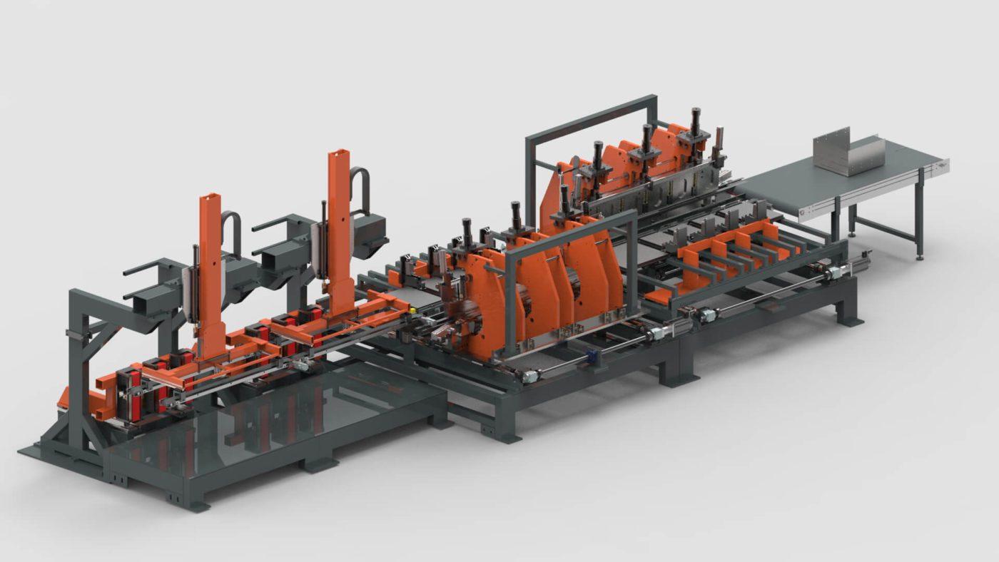 Schubladen Blechbearbeitung Biegen Produktionslinie