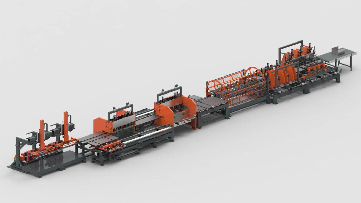 Schubladen Blechbearbeitung Platine Stanzen Biegen Produktionslinie