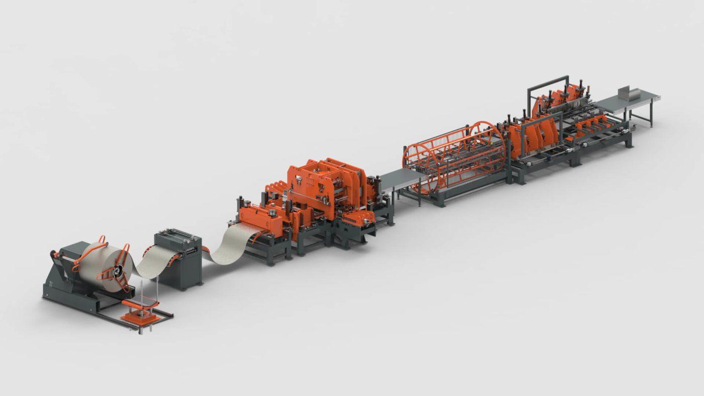 Schubladen Blechbearbeitung Coil Stanzen Biegen Produktionslinie