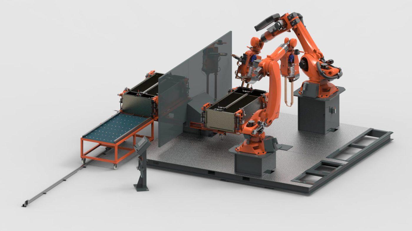 Stalen Kasten Robotlassen Technologie