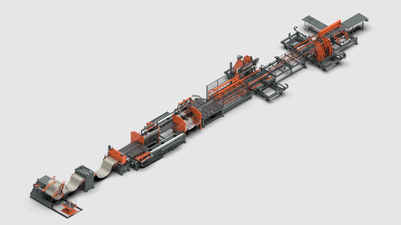 WEMO sheet metal panel bender coil punching shearing processing line for electrical enclosures and distribution cabinets