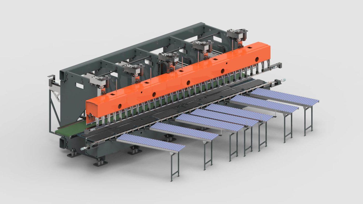 Rollladenkästen Blechbearbeitung Abkantpresse Produktionslinie