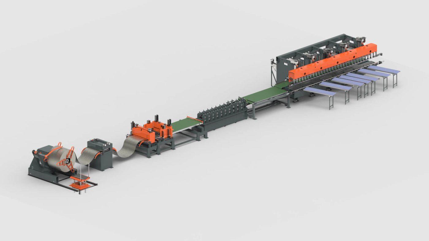 Rollladenkästen Blechbearbeitung Coil Profilieren Abkantpresse Produktionslinie