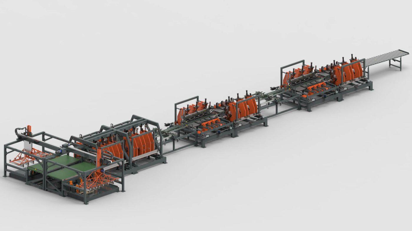 Schaltschränke Blechbearbeitung Biegen Produktionslinie