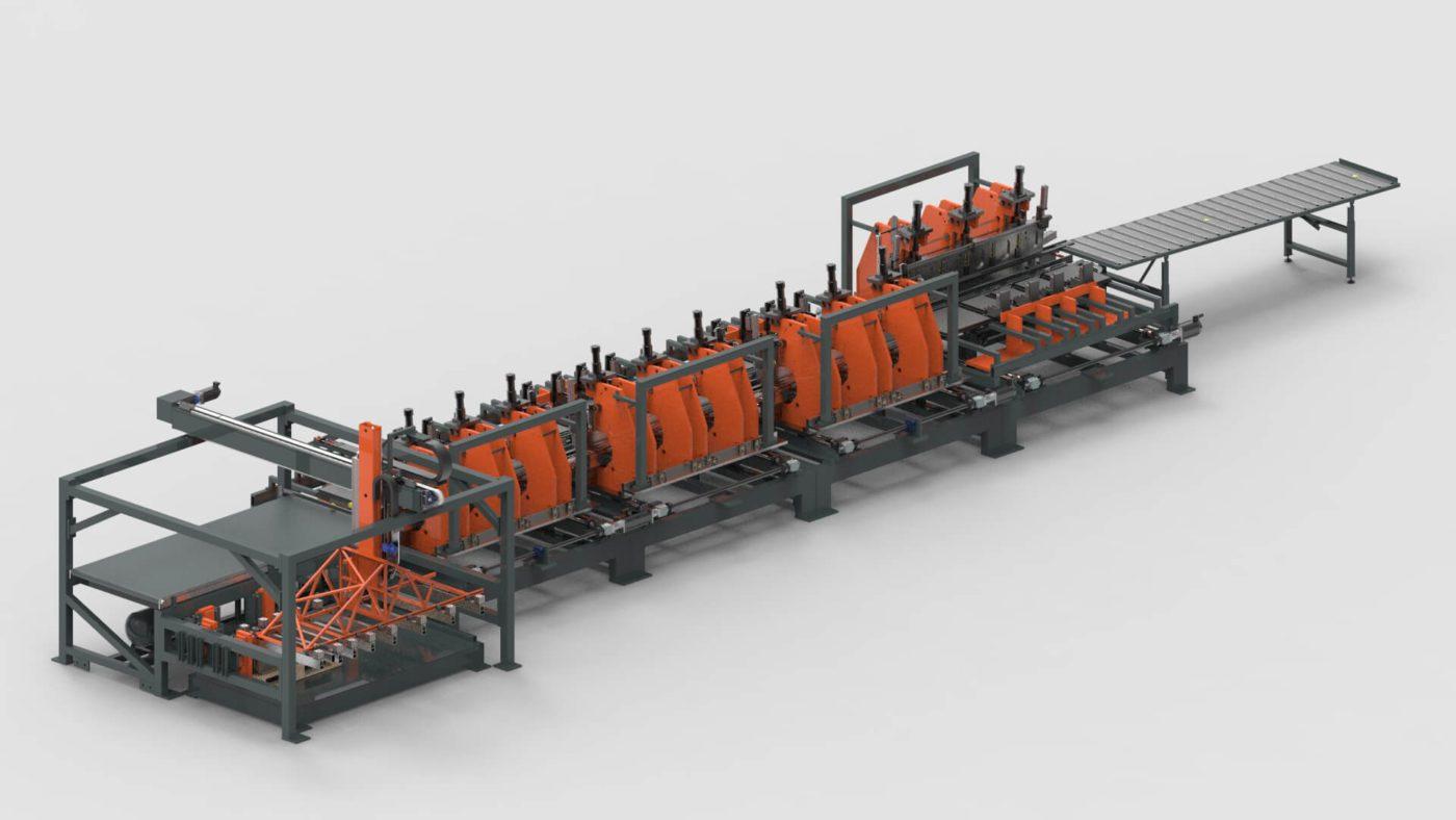 Stahlzargen Blechbearbeitung Biegen Mit Dämpfungsprofil Produktionslinie