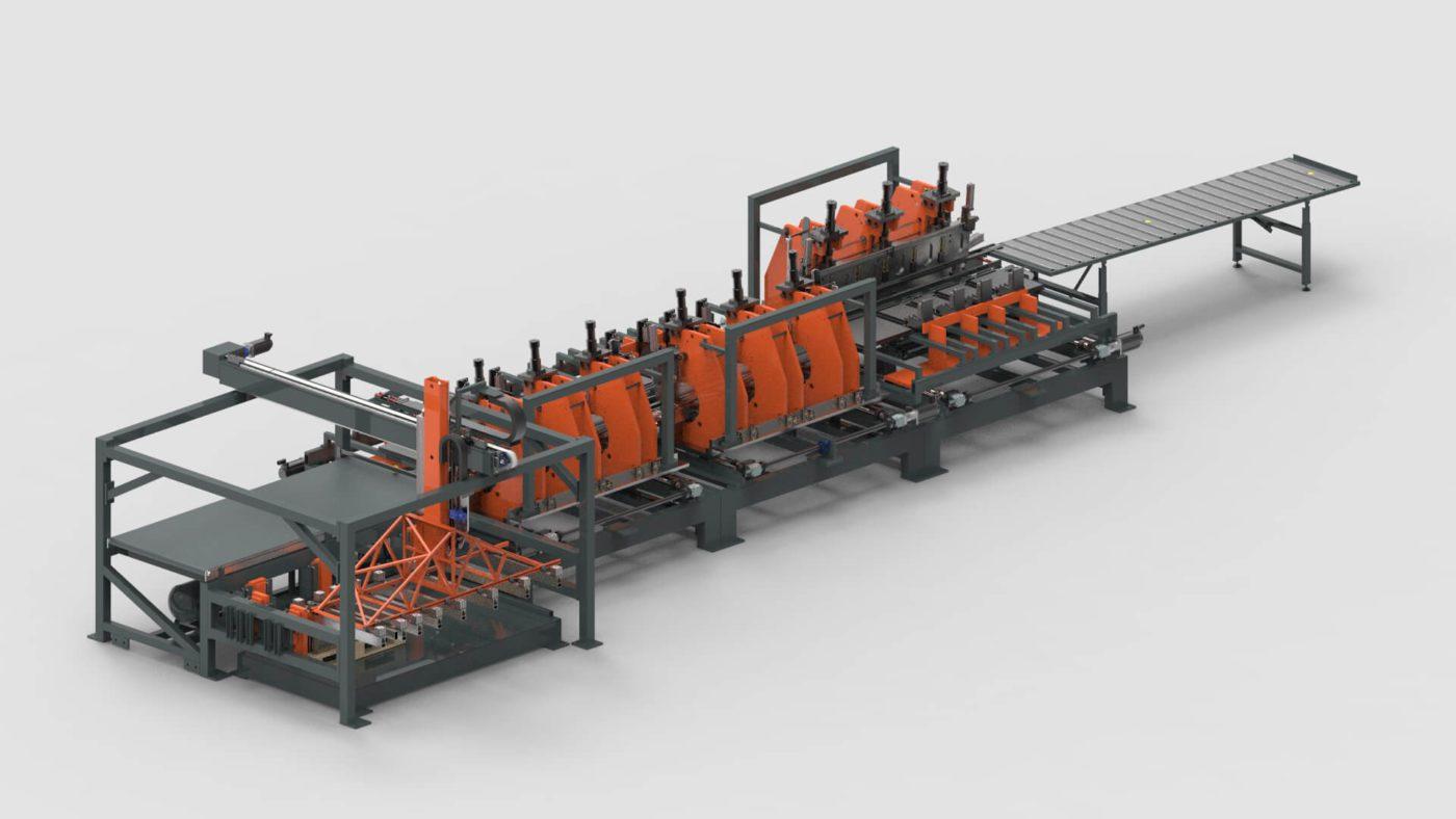 Stahlzargen Blechbearbeitung Biegen Produktionslinie