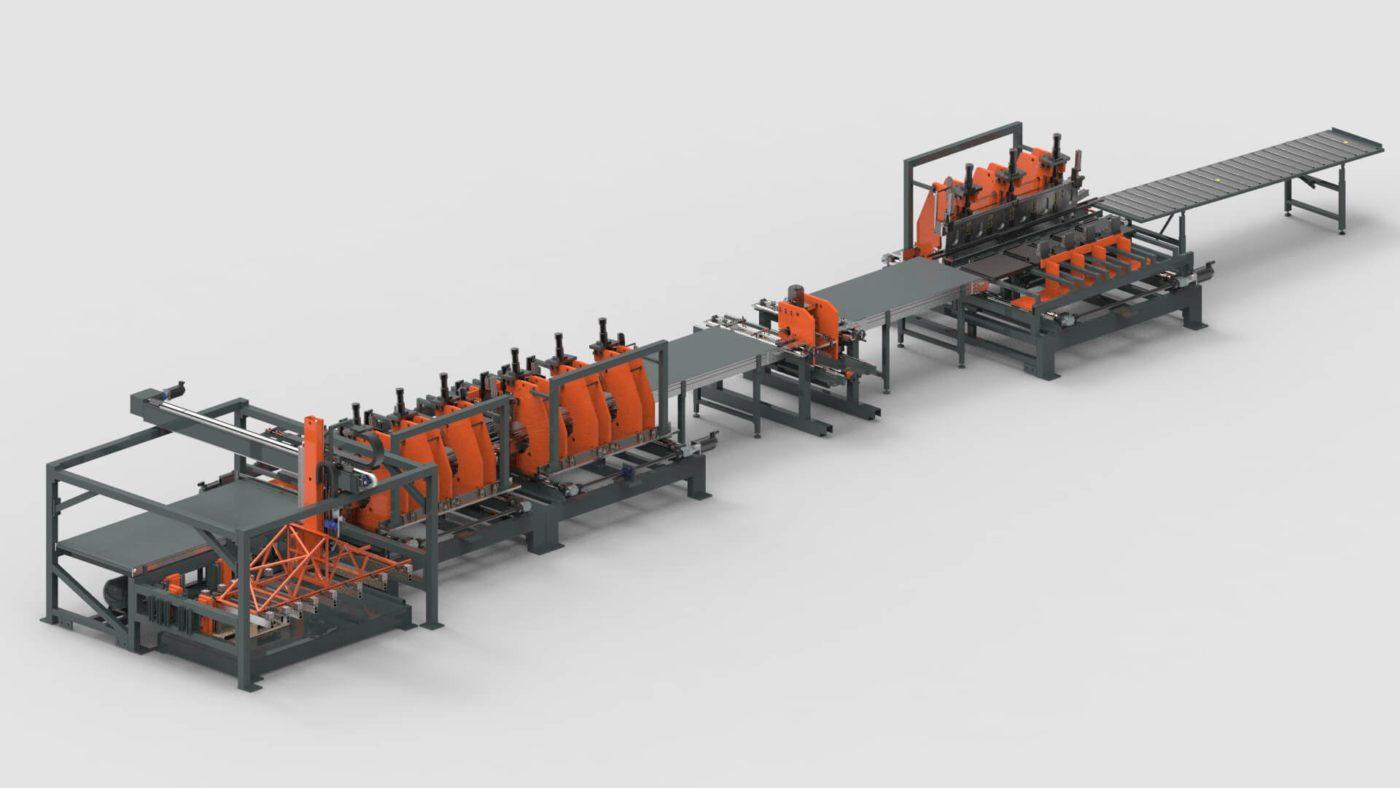 Stahlzargen Blechbearbeitung Biegen Stanzen Produktionslinie