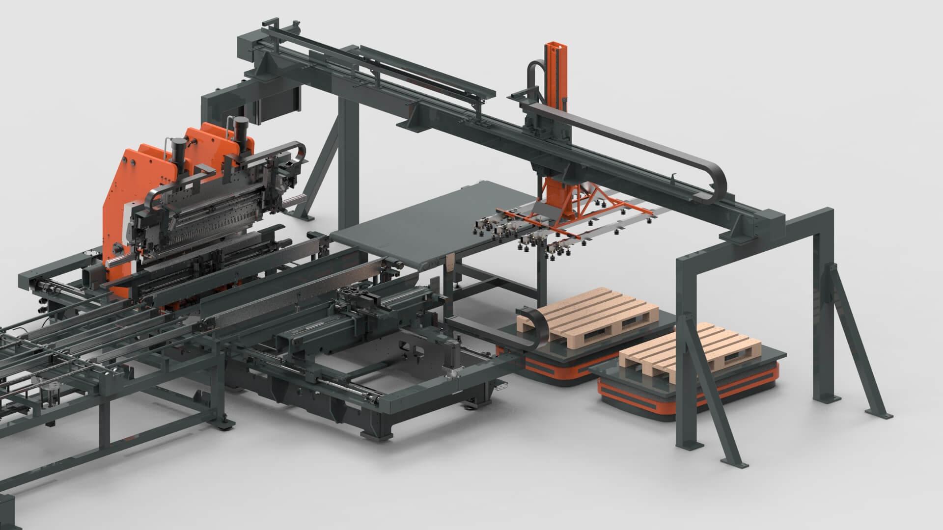 WEMO Automatisierte Entladestation für Stahltüren