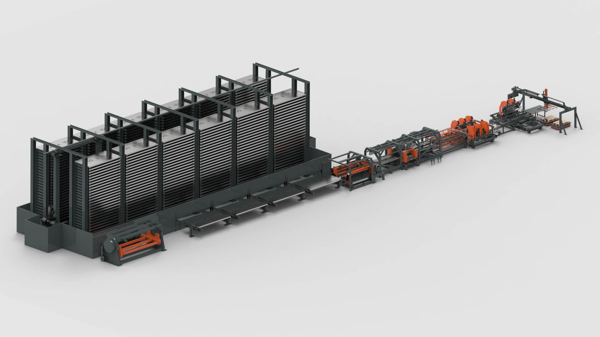WEMO Stahltüren Blechbearbeitung Blechlagersystem Schneiden Stanzen Biegen Produktionslinie