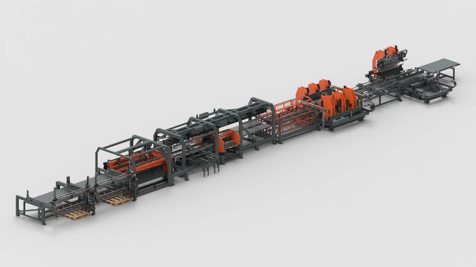 WEMO Stahltüren Blechbearbeitung Schneiden Stanzen Biegen Produktionslinie