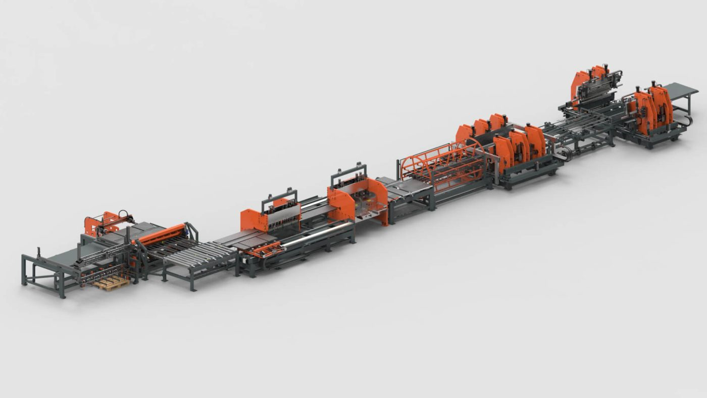 WEMO Interior Wall Systems Sheet Metal Cutting Punching and Bending Production Line