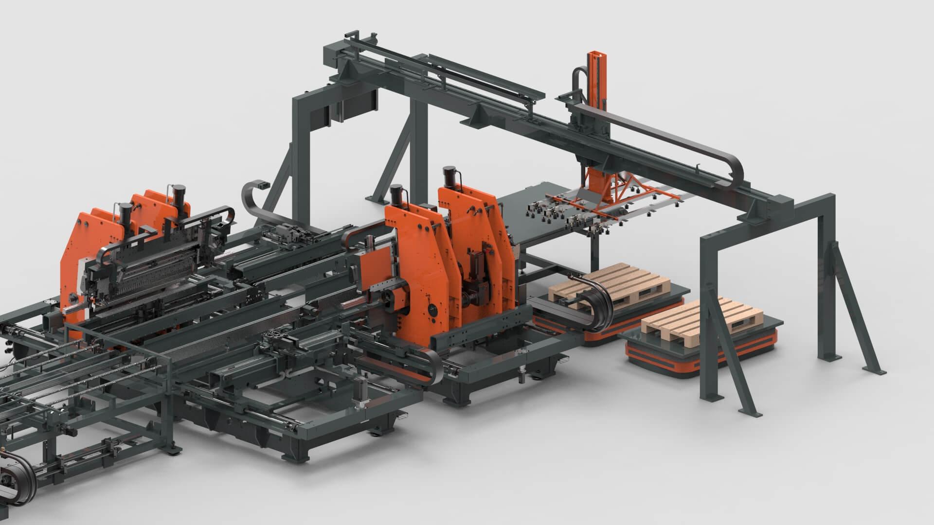 WEMO Stahlschränke Automatisierte Entladestation PBL-2550
