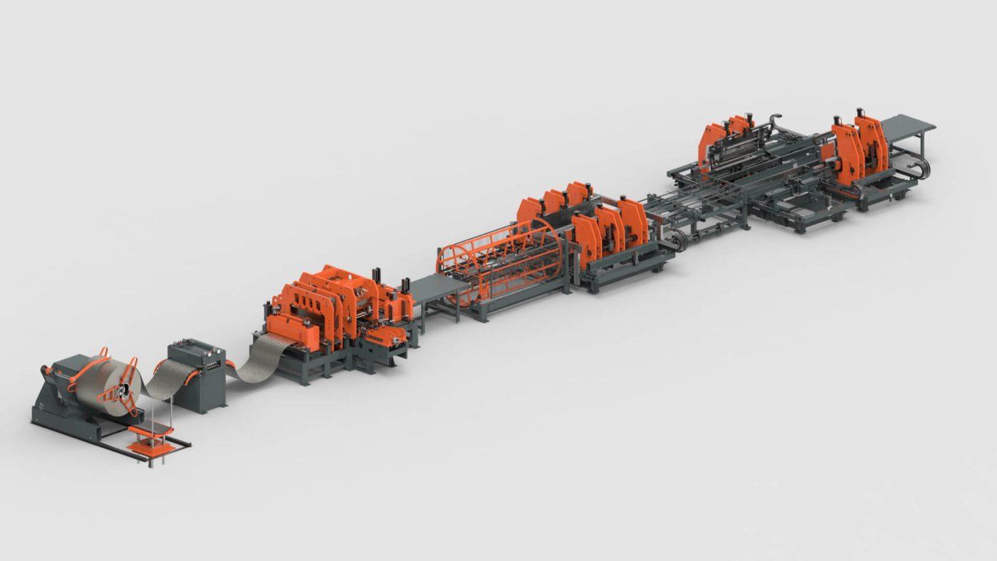 WEMO Stahlschränke Blechbearbeitung Blechlagersystem Coil Stanzen Biegen Produktionslinie PBL-2550