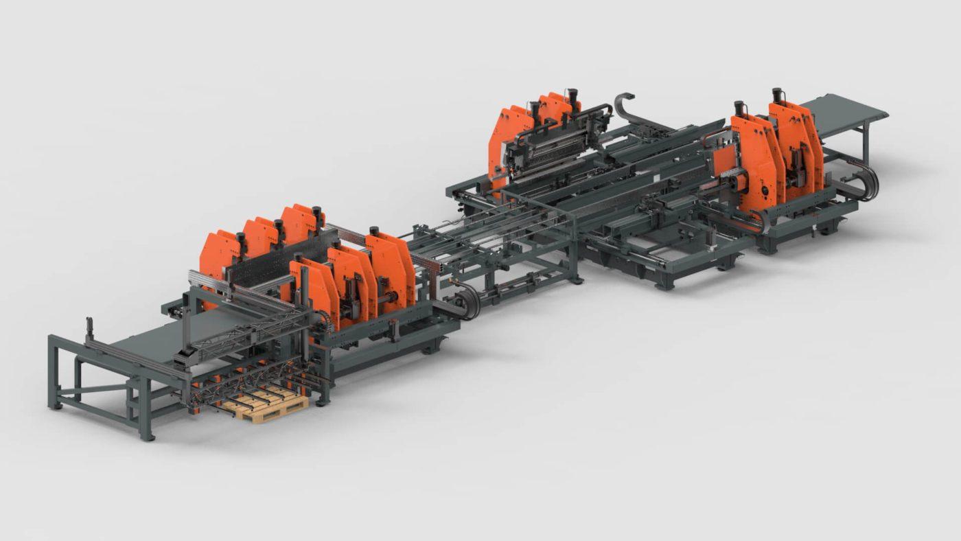 WEMO Stahlschränke Blechbearbeitung Blechlagersystem Biegen Produktionslinie PBL-2550