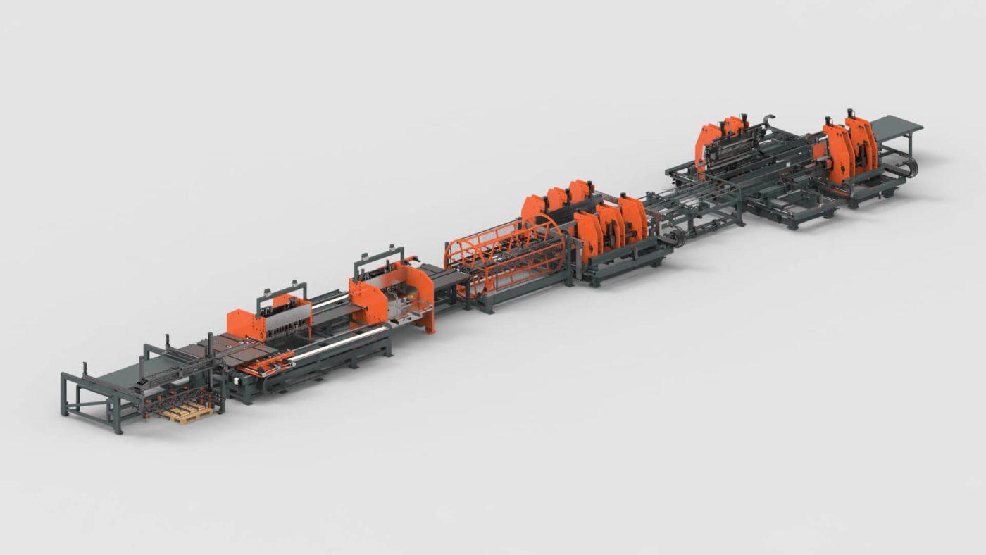 WEMO Stahlschränke Blechbearbeitung Blechlagersystem Platine Stanzen Biegen Produktionslinie PBL-2550