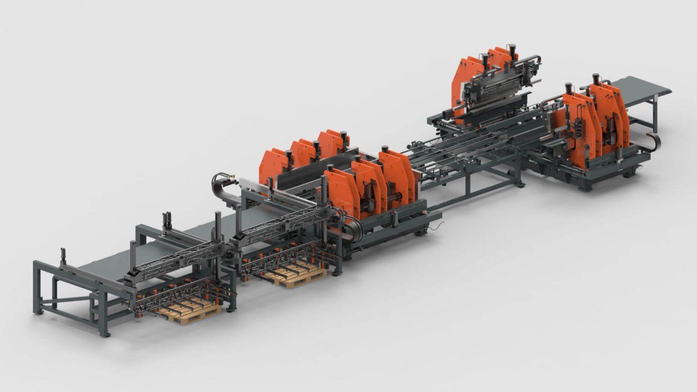 WEMO Stahltüren Blechbearbeitung 4 seitig biegen producktionslinie