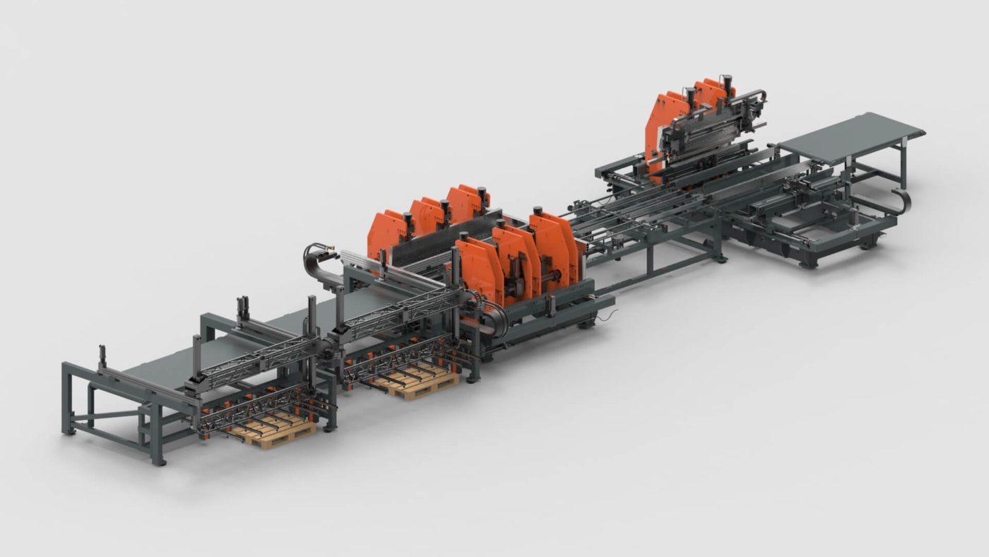 WEMO Steel Doors Sheet Metal Bending Production Line PBL-2550