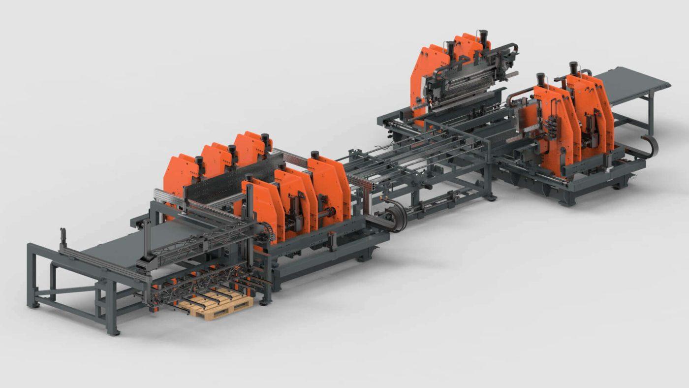 WEMO Systemtrennwände Blechbearbeitung Biegen Produktionslinie