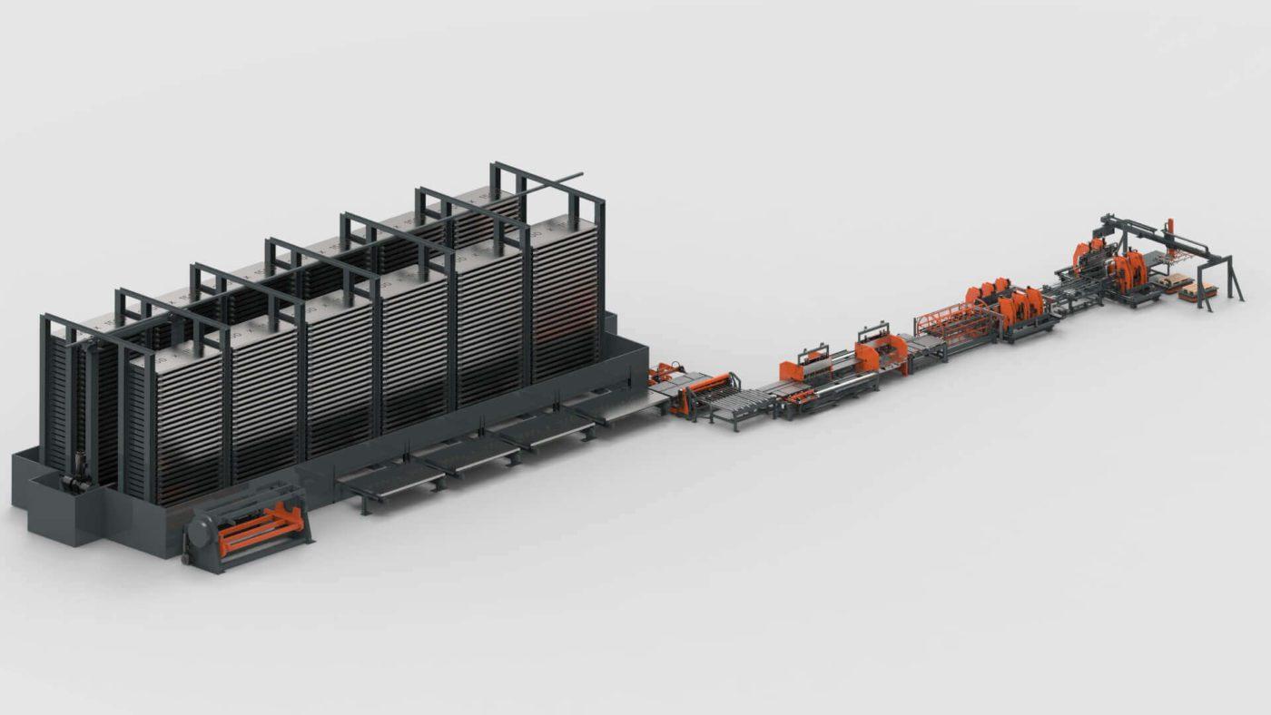 WEMO Systemtrennwände Blechbearbeitung Blechlager Sytem Schneiden Stanzen Biegen Produktionslinie