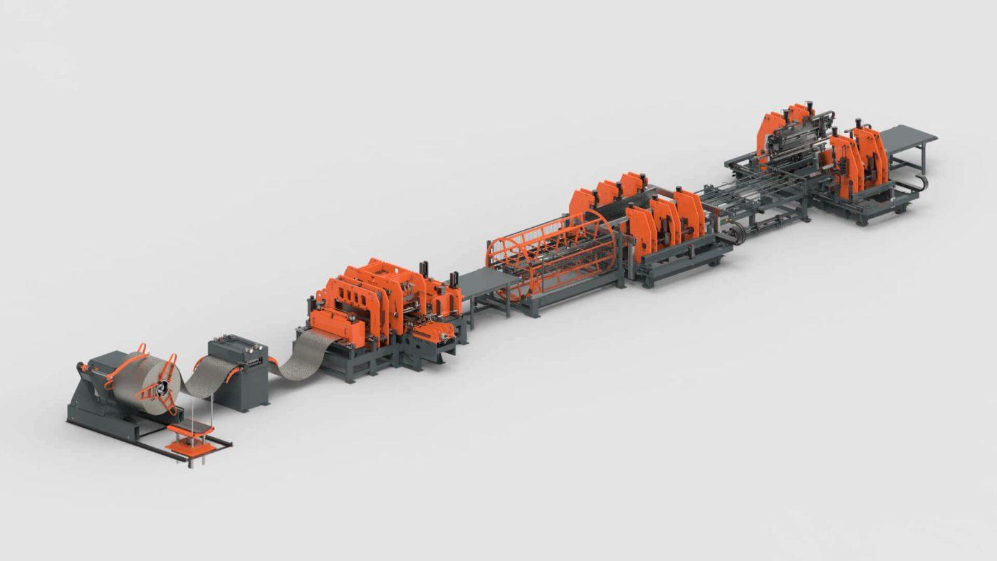 WEMO Systemtrennwände Blechbearbeitung Coil stanzen Biegen Produktionslinie