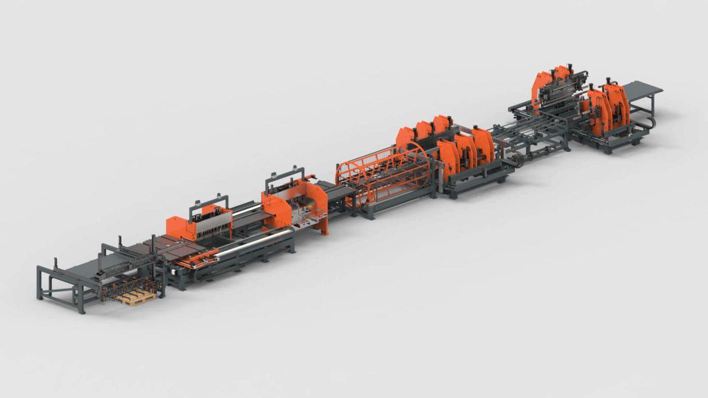 WEMO Systemtrennwände Blechbearbeitung stanzen Biegen Produktionslinie